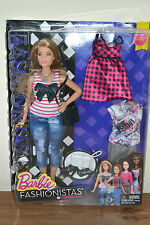 2016 FASHIONISTAS Playline EVERYDAY CURVY Barbie With Clothes - NEW