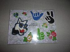 NWT COACH F58566 FLORAL RUBBER STICKER ASSORTMENT OF TEA ROSE/ROSE MEADOW PATTE