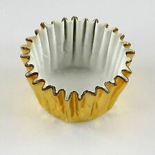 "500x Mini Gold Foil Liners Candy Nut Chocolate Decoration Cupcake Cups 1"" x 3/4"""
