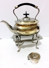 Vintage Teapot With Stand and Tea Steeper? Silver Plated Yellowed