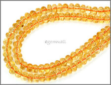 Natural Citrine Rondelle Beads 4mm Grade AA 115ct 62053