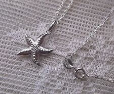 Starfish Necklace 925 Sterling Silver Beach Ocean Star Fish Water Sea Vacation