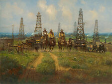 G. Harvey HISTORY IN THE MAKING - 30x40 S/N Canvas Giclee Oil Texas Cowboys 2015