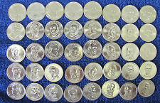 Complete set 2007- 2016 P & D President Dollar in Coin Tubes - 78 Unc Bu Coins