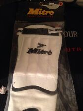 MITRE SOCCER CHAMP WHITE BLACK FOOTBALL COMPETITION SHIN & ANKLE GUARDS LARGE
