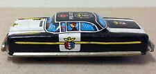 "Nakamura Tin litho Police Car Japan Friction WORKING 4"" vintage emergency"