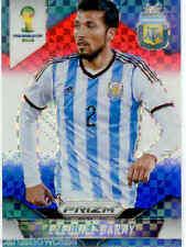 2014 World Cup Prizm Red White Blue Plaid Parallel No.5 E. GARAY (ARGENTINA)
