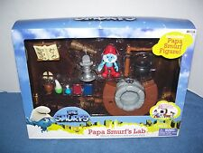 2011 Papa Smurfs Lab - Figure & 10 Accessories - Smurfs Playset  Jakks Pacific