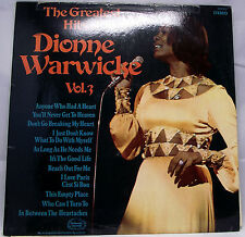 "DIONNE WARWICKE - THE GREATEST HITS OF Vinyl LP 12"" Album 33rpm VG"