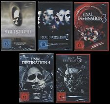 DVD FINAL DESTINATION 1 + 2 + 3 + 4 + 5 - FSK 18 - 5 DISC SET - HORROR-KULT *NEU