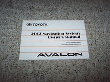 2007 Toyota Avalon Navigation System Owner User Manual XL XLS Touring Limited