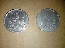 Pièces de Monnaie 10 Francs 1948 et 1949
