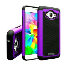 Purple Dual Layer Hybrid Hard Case For Samsung Galaxy Grand Prime SM-G530W