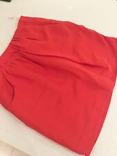 COUNTRY ROAD SKIRT MINI SHORT LINED ORANGE SILK COTTON WORK PARTY SZ 10