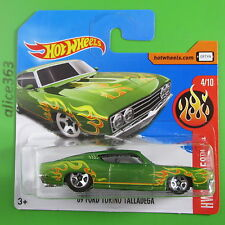 HOT WHEELS 2017  -  ´69 Ford Torino Talladega  -  HW Flames  -  35  - neu in OVP
