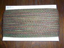 (0,34€/m) rot/grün/gelb/schwarze Borte / Litze, Höhe ca. 2cm 50m auf einer Pappe