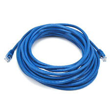25FT Blue Cat5e 350MHz UTP RJ45 Ethernet Bare Copper Network Cable