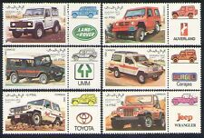 Sahara 1992 Cars/Transport/Motoring/Land Rover/Jeep/4WD 6v + lbls set (n32693)