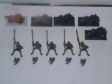 Warhammer Orcs & Goblins - 5 x Savage Orc Boar Boys / Boyz, Spears, Metal oop