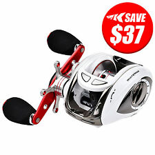 KastKing WhiteMax Baitcaster Low Profile Reel Bass Fishing Baitcasting Reel