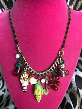 Betsey Johnson Vintage Farmhouse Farm House Farmer Vegetable Garden Necklace