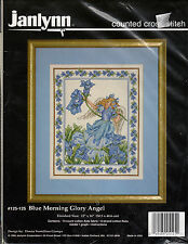 ** COUNTED CROSS STITCH KIT JANLYNN #125-125 BLUE MORNING GLORY ANGEL