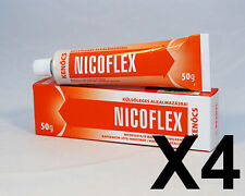 4 PACK OF NICOFLEX CAPSAICIN MUSCLE PAIN / WARMUP CREAM (7.05oz) - FREE SHIPPING