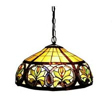 Tiffany Style Hanging Lamp Stained Glass Light Ceiling Lighting Fixture Metal