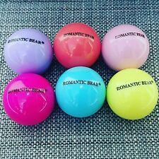 Set of 6 scented lip balm sphere ball gloss lipstick beauty gift set