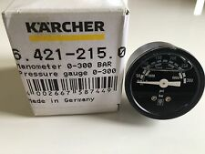 Genuine Karcher Manometer 0-300 BAR Pressure Gauge HDS 64212150