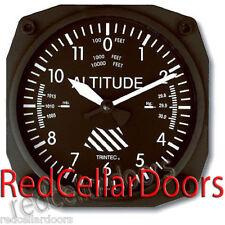"""New TRINTEC 9060 Classic ALTIMETER ALTITUDE Wall Clock 6.5"""" Sq Aviator Aviatrix"""