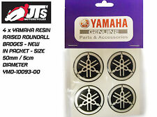YAMAHA TANK PANEL RAISED RESIN ROUNDAL ROUNDEL / BADGES / R1 R6 FZS x4 50mm Dia