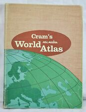 Cram's New Modern World Atlas 1956 Hardcover Published By George Cram Company