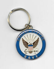 USN Navy  EMBLEM KEY RING METAL W/ACRYLIC