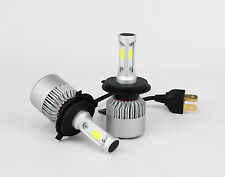 1SET H4 70W COB LED Headlight Bulb Kit fan Inside high/low Beam 8000lm 6500K Car