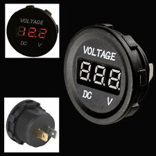 Red LED Digital Waterproof Voltmeter Gauge Meter 12V-24V For Car Auto Motorcycle