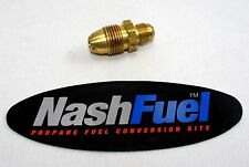 "BRASS ADAPTER MALE POL TO 3/8"" MALE FLARE PROPANE HOSE TANK CONNECTION"