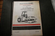 IR INGERSOLL RAND SD110 Roller Compactor Parts Manual book catalog spare list