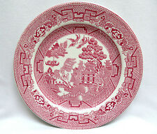 """1929 - 1942  Allerton's England Red Pink """"Willow"""" Bread & Butter Plate ~ 6 3/4"""""""