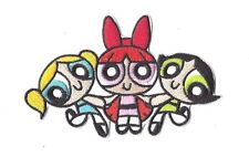 POWERPUFF GIRLS IRON ON PATCH Embroidered Badge Sew Craft Cartoon TV PT200