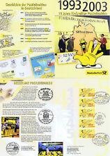 BRD 2003: Postleitzahlen-Erinnerungsblatt! 5x Nr 2344! Bonner Sonderstempel! 156