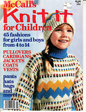 MCCALL'S KNIT IT FOR CHILDREN KNITTING MAGAZINE ~45 FASHIONS FOR GIRLS & BOYS