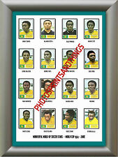 ZAIRE - WORLD CUP 74 - REPRO STICKERS A3 POSTER PRINT