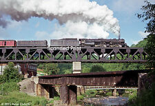 Original Photograph: N & W 1218 at Coopers Viaduct, WV (2 of 2)(5 x 7)