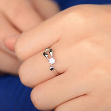 Zodiac Scorpio Rhinestone Finger Ring 925 Sterling Silver Adjustable Open Hot CI