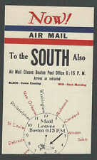 Ca 1927 BOSTON MA FLIGHT ANNOUNCEMENT CARD NOW DEPICTS FLIGHTS TO OTHER SEE INFO