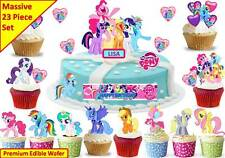 MY LITTLE PONY Edible Birthday Scene Cup Cake Scene Toppers STAND UP CUSTOM