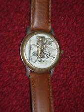 "Relic By Fossil ""Classic American Sports' Fisherman Watch Leather Band Japan"