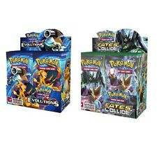 2x XY Evolutions 1x Fates Collide Unopened Booster Packs Pokemon Cards. 3 Total!