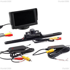 "2.4GHz Wireless 4.3"" LCD Monitor Display + Car License Plate Reserve Camera IR"